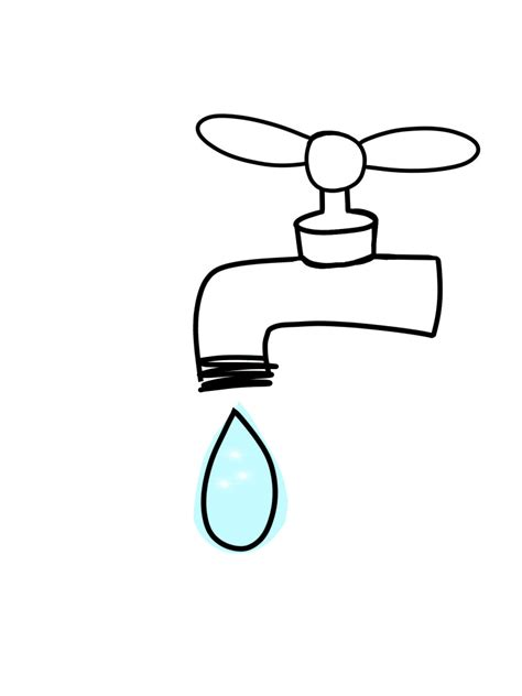 Water Faucet Drawing by The Voice Water You Doing To Save The World