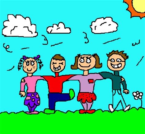 imagenes para amigos zarpadas dibujo de amigos pintado por amigos en dibujos net el d 237 a