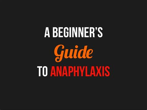 A Beginners Guide To Quality Management A Beginner S Guide To Anaphylaxis
