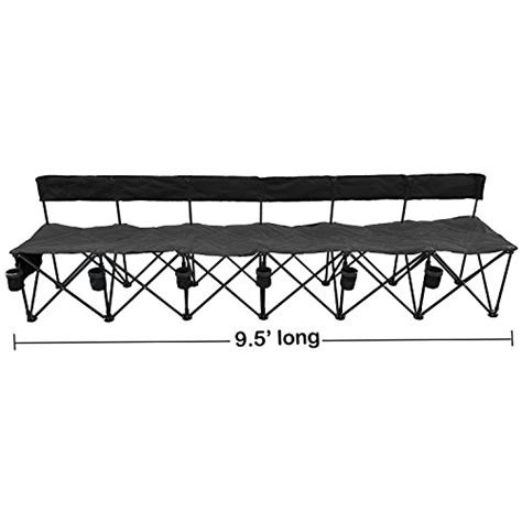 foldable team bench goteam pro 6 seat portable folding team bench black farm garden superstore