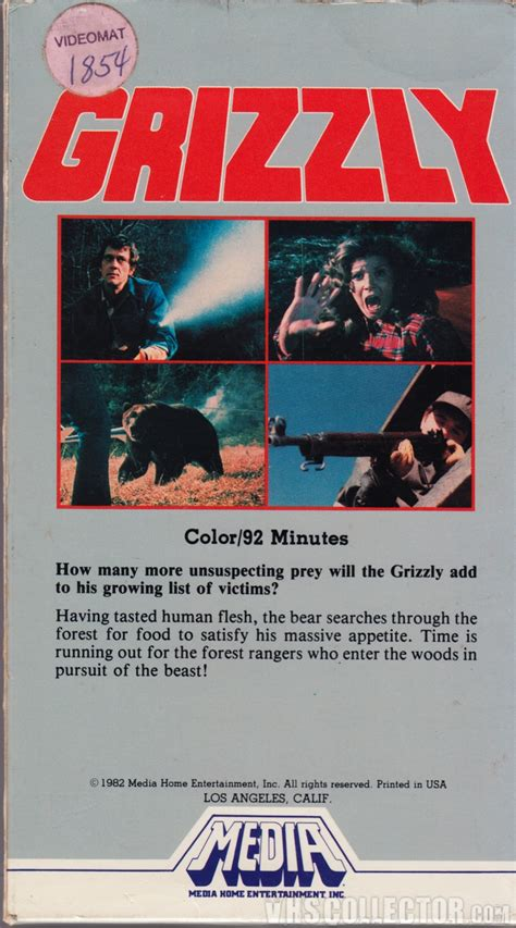 grizzly 1976 quotes imdb grizzly vhscollector com your analog videotape archive
