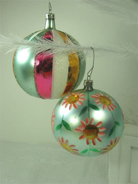 vintage mercury glass ornaments hp mica tree