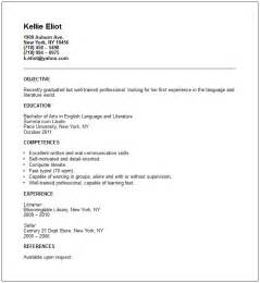 New Grad Resume Template by Resume Exles Recent Graduate Sle Resume