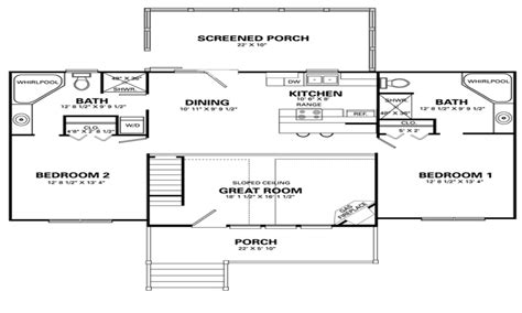 small 2 bedroom house plans with loft studio design