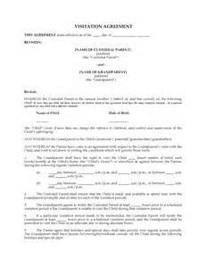 Visitation Agreement Template Image Gallery Visitation Agreement