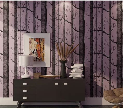 Tree Design Wallpaper Living Room by Forest Wall Mural Birch Tree Pattern Woods Wallpaper Roll