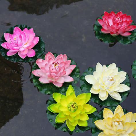 lotus flower to buy aliexpress buy 1pcs 17cm decor garden artificial