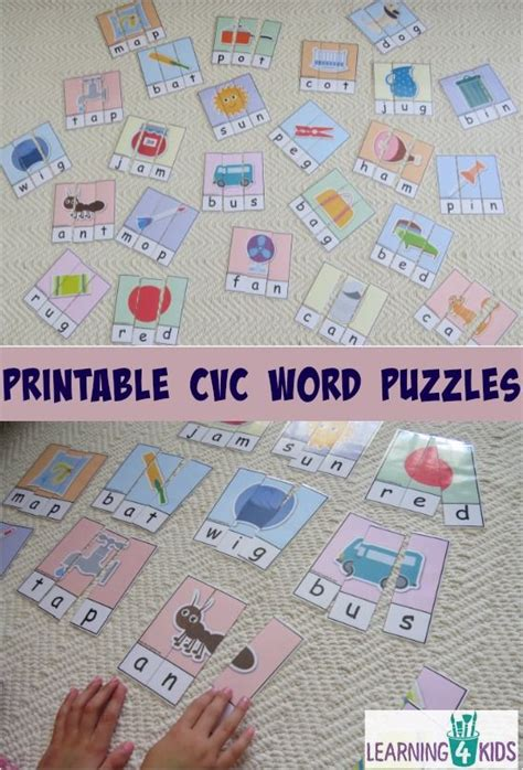 printable cvc games for kindergarten printable cvc words bundle activity pack word puzzles