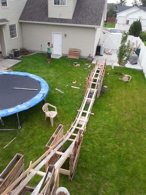 roller coaster in the backyard just a car guy the 50 dollar back yard roller coaster