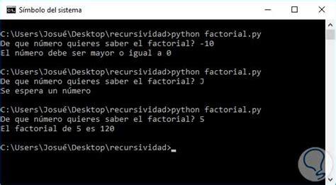 august 2016 python tutorial funciones recursivas en python solvetic