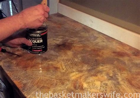 Decoupage Countertops - decoupage countertop