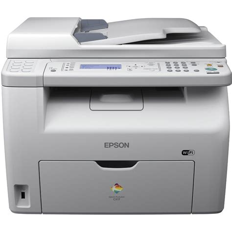Printer Laser Epson epson aculaser cx17wf a4 colour multifunction laser printer c11cb71081by