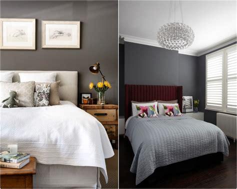 schlafzimmer gestaltungsideen schlafzimmer anthrazit wandfarbe grau im schlafzimmer