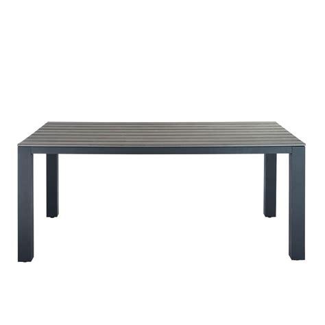 table de jardin en aluminium gris escale maisons du monde