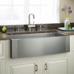 Kitchens With Farm Sinks 27 Quot Optimum Stainless Steel Farmhouse Sink Curved Front Kitchen