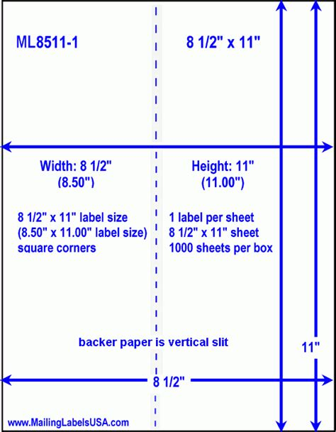 Full Sheet Labels Blank Full Sheet Labels Similar To Avery 5165 5265 8165 8465 Label Size Avery 8 5 X 11 Label Template