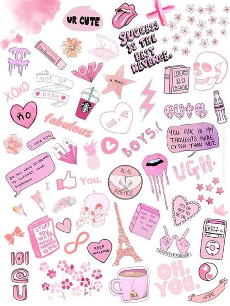 Wallpaper Sticker Girly 1000 images about transparent collage on
