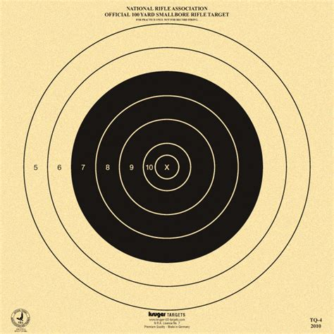 printable nra targets official 100 yard smallbore rifle target nra tq 4 nra