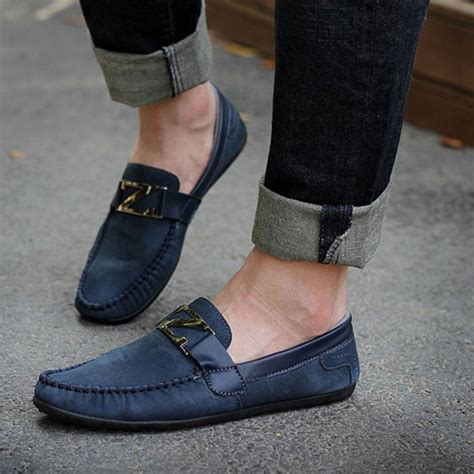 Sepatu Pria Available Zapato Black Leather 2015 loafer shoes trendy suede leather slip on loafers