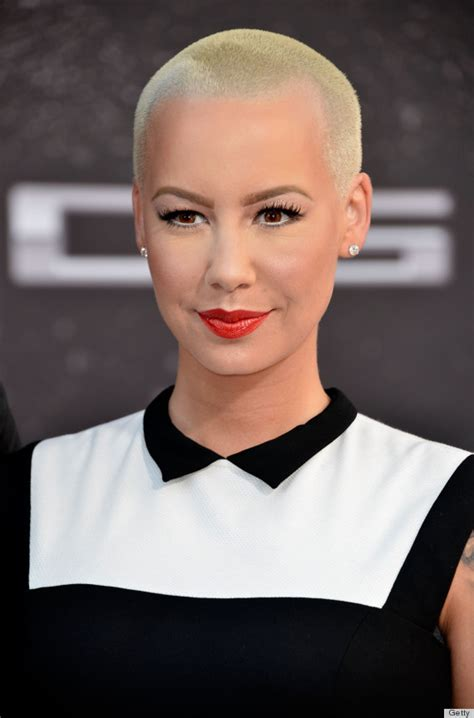 amber rose before hair cut amber rose s long hair catches us off guard photos