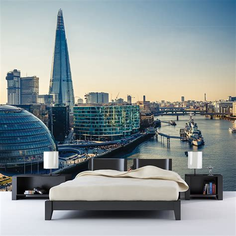 thames river wall the thames river london city skyline wall mural travel