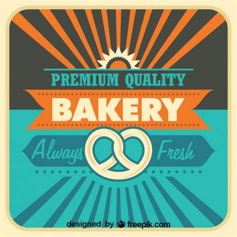poster design vector download retro bakery poster design vector free download