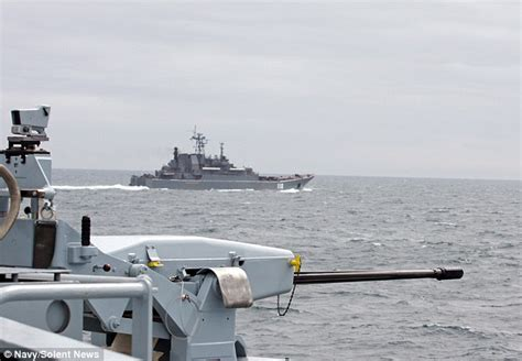 tracking boats english channel royal navy warship tracks russian military vessels as they