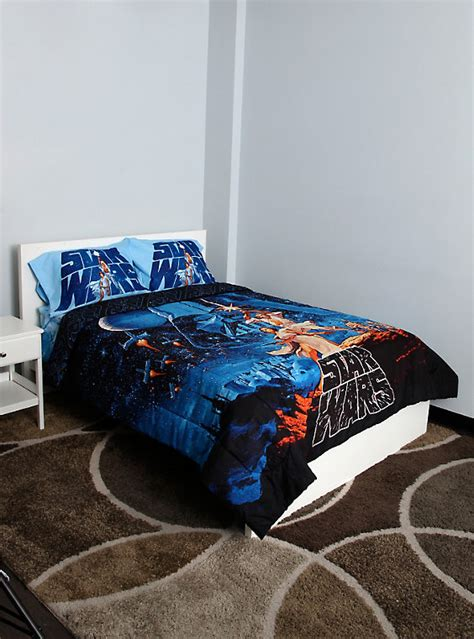 star wars bedding queen star wars poster full queen comforter hot topic