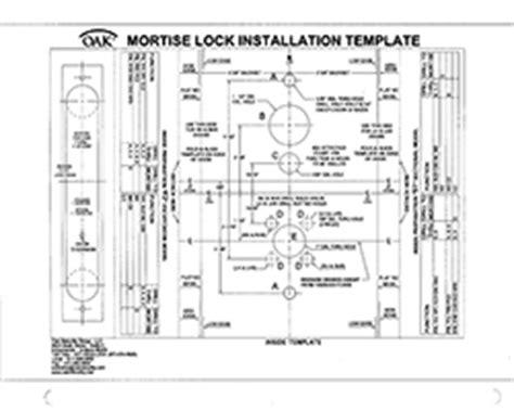 mortise lock template installation template mortise lock f2 inside oak
