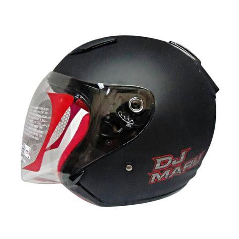 Helm Kyt Warna Dop Jual Helm Kyt Dj Maru Solid Black Dop Half