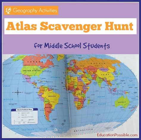 printable geography games geography activities atlas scavenger hunt free printable