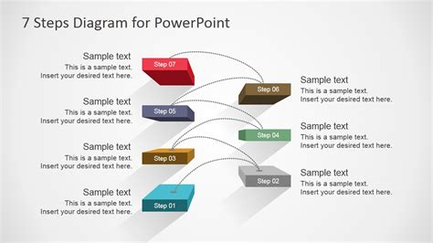 step diagrams 7 steps diagram design for powerpoint slidemodel