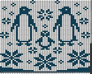 knitting chart generator jumper penguin family crochet graphs