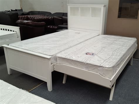 furniture place king single bed with box headboard