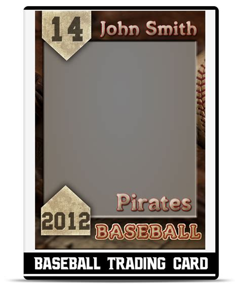 baseball player card template baseball trading card template teamtemplates