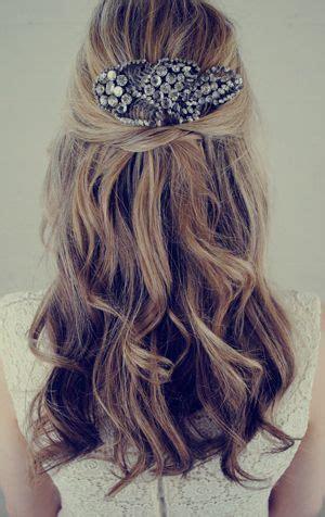 Wedding Hair Half Up Accessories by Half Up Half Wavy Wedding Hairstyle With Hair