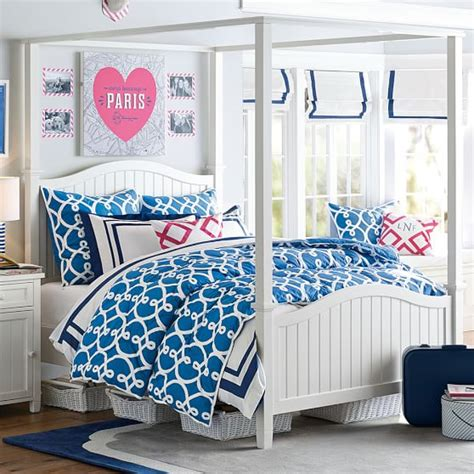 beadboard canopy bed trundle beadboard canopy bed trundle pbteen