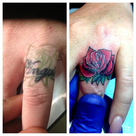 tattoo cover up on hand finger name cover up tattoos pinterest cover up