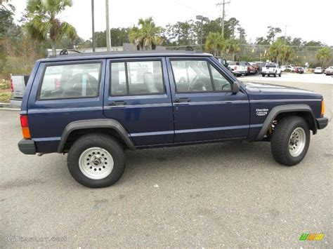 blue grey jeep 1995 dark montego blue pearl jeep cherokee sport 43991235