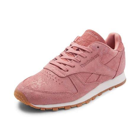 womens pink athletic shoes womens reebok classic athletic shoe pink 480847