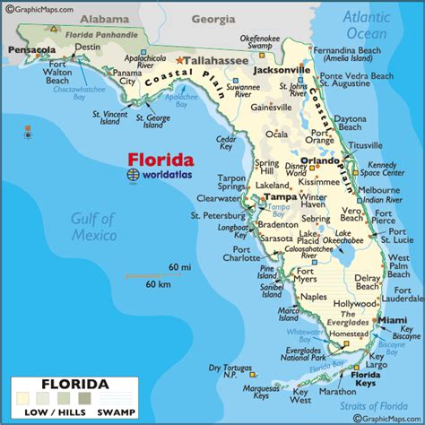 map of florida earth map of florida large color map