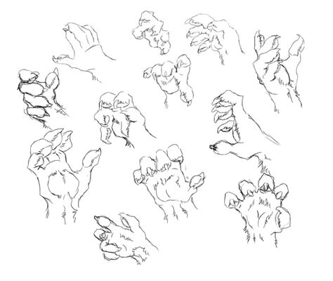 werewolf paw tutorial werewolf paws by nightenscythe on deviantart