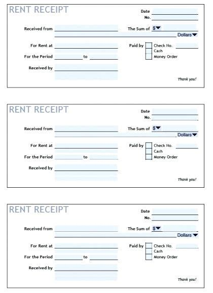 Rent Receipt Template Australia by Rent Receipts Template Word Printable Rental Receipts Rent