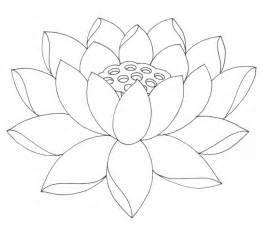 Lotus Flower Color Japanese Lotus Coloring Pages
