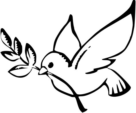 187 Dove Peace Black White Line Art Christmas Xmas Peace On Peace Dove Coloring Page