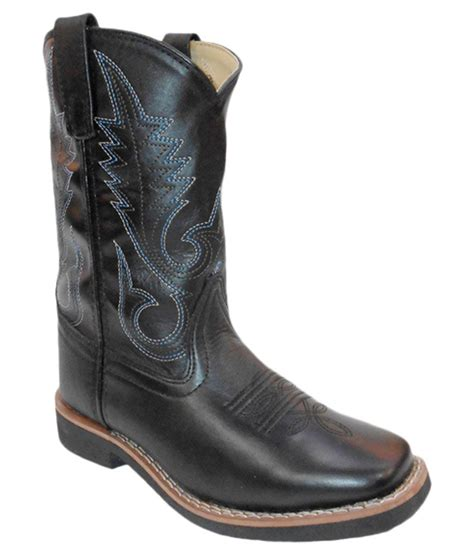 maine haiten black leather boots for price in india