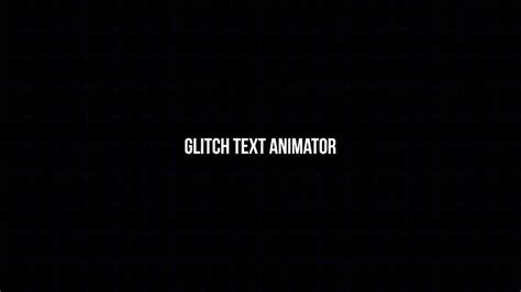 motion text templates glitch text animator motion graphics templates motion