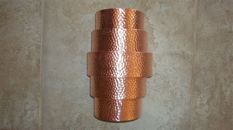 hand crafted hammered copper wall sconce theater light
