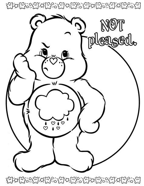 care bear coloring page free cheer bear coloring pages coloring coloring pages
