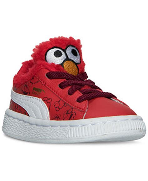 elmo shoes for toddler boys basket sesame casual sneakers